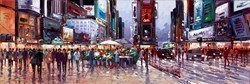 Times Square Crowds by Henderson Cisz -  sized 48x16 inches. Available from Whitewall Galleries